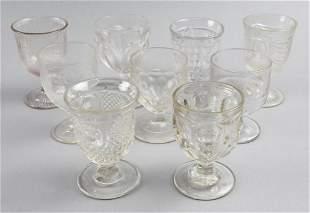 (9)EAPG Wine Glasses, McKee, Flint, Etc