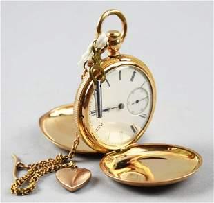 1881 Gail Borden Elgin 14K Hunter Case Pocket Watch