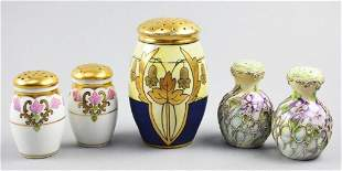 (3) Porcelain Shakers, Royal Nippon, WA Packard