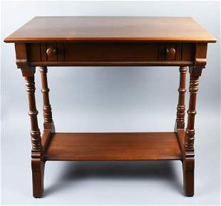c1870 Victorian Parlor Table w/ Drawer