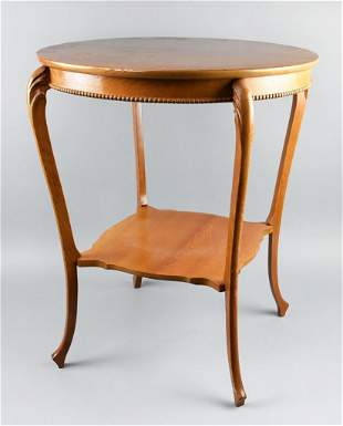c1890 Solid Oak Occasional Table