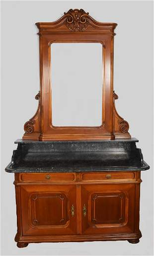 Antique French Style Marble Top Dresser
