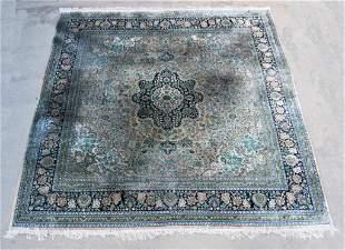 Vintage Woven Silk Persian Rug