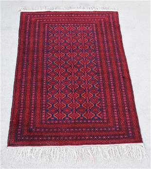 Antique Woven Wool Turkish Area Rug