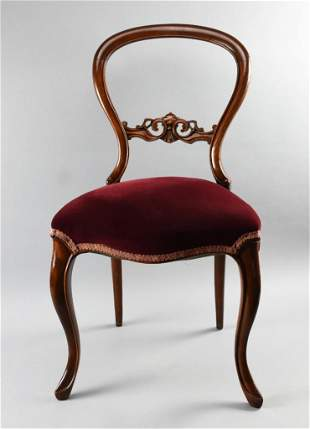 Victorian Balloon Back Accent Chair