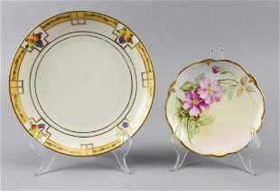 c1880 Hand Painted Porcelain Plates, Rosenthal, Signed