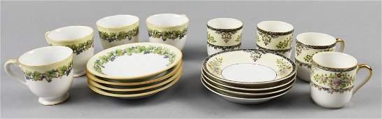 (2) Vintage Sets Japanese Porcelain Tea Sets Noritake