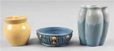 Antique Pottery Wares, Roycroft Weller Muncie