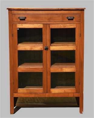 Antique Glass front Kitchen Cupboard