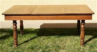 c1890 Antique Oak Dining Table