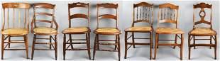 (7) Vintage/Antique Cane Seat Chairs