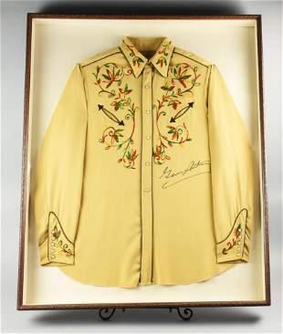 Vintage Gene Autry Authographer Cowboy Shirt W/Letter