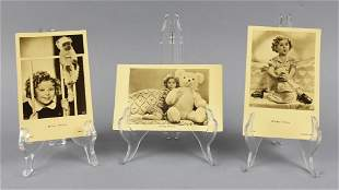 c1930 Lot of 3 Shirley Temple Real Photo Postcards