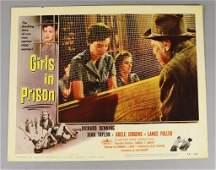 1956 Girls In Prison, Denning, Taylor Lobby Card