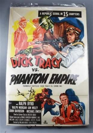 Dick Tracy vs. Phantom Empire, Republic Movie Poster