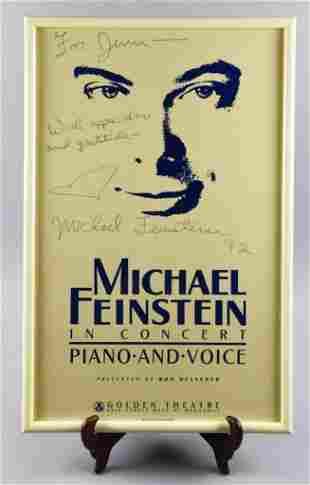 Signed Michael Feinstein Concert Poster