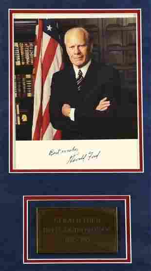 Presidential Signed Photo, Gerald Ford
