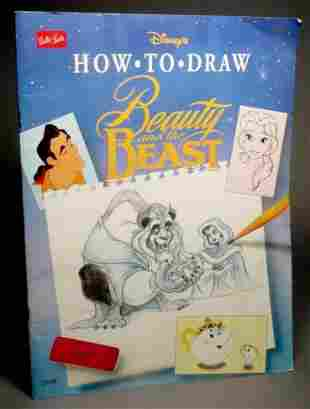 RARE Signed Disney Beauty and the Beast Coloring Book