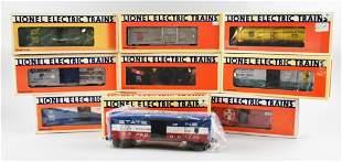 (9) Lionel O/O27 Gauge Boxed Train Cars