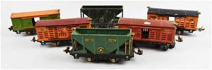 (6) Lionel Lines Pre-War Train Tinplate Cars
