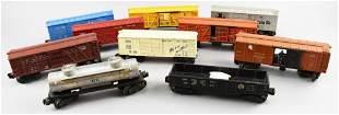 (10) Vintage Post-War O Gauge Lionel Train Cars