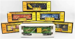 (6) Rail King MTH Electric Trains, O O27 Scale, Boxed