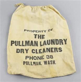 Vintage Pullman Laundry Dry Cleaner Bag, Washington