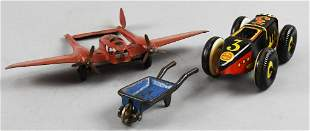 c1930 Cast Steel/Tin Toy Lot, Marx, Kilgore and More
