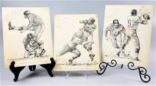 Robert Riger Football Player Signed Prints Swanton