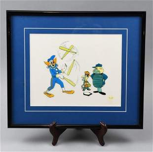 Limit Ed.1992 Bozo The Clown Baseball Gel Cel
