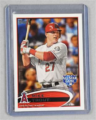 2012 Topps Mike Trout, Rookie Season All Star Game Card