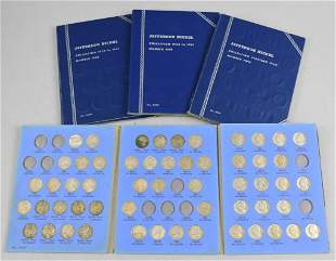 (4) Jefferson Nickel Collection Books
