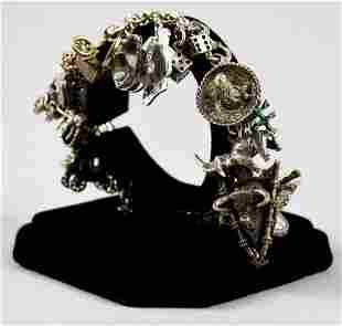 Loaded Vintage Sterling Charm Bracelet