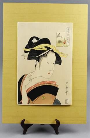 Kitagawa Utamaro (c1754-1806) Woodblock Print