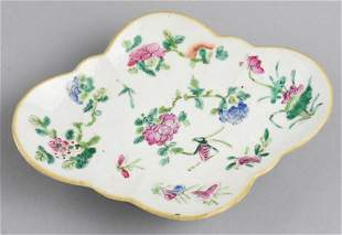 Antique Chinese Famille Rose Footed Plate