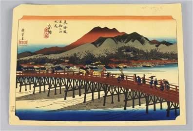 Utagawa Hiroshige (1797-1858) Woodblock Print