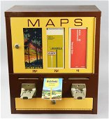 c1960 EB Map Vender Model No. 4DR w/ 54 Maps Coin-OP