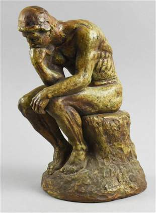 "Vintage After Rodin ""The Thinker"" Tabletop Figure"