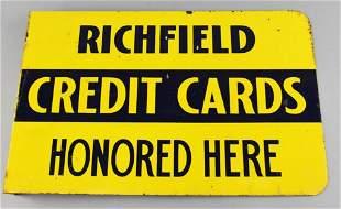 Vintage Richfield Credit Card Flange Sign