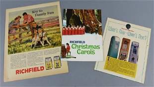 1960s Richfield Advertising & Christmas Carol Song Book