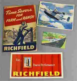 Vintage Richfield Oil Corp Advertising Ephemera