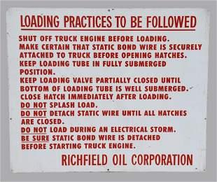 Rare Vintage Richfield Oil Porcelain Loading Practices