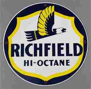 Vintage Richfield High Octane Metal Sign