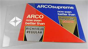 Vintage ARCO Gas Pump Signs