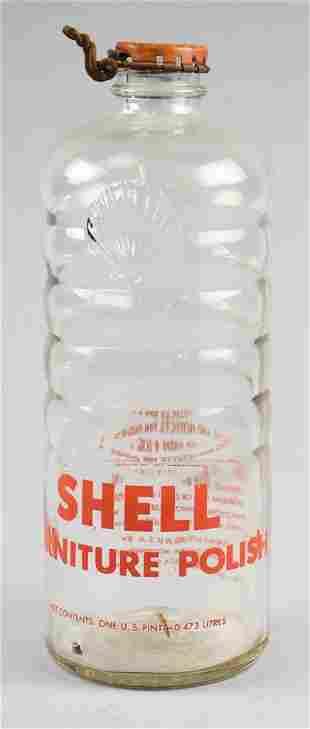 c1940 Shell Oil Co Furniture Polish 1 Pint Bottle