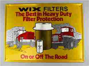 Vintage Stout Industries Wix Filters Metal Sign