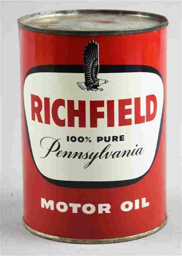 Vintage Richfield Oil Corp Pennsylvania Motor Oil, Full