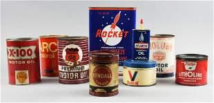 Misc Vintage Automotive Maintenance Cans, Oil, Grease &