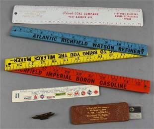 Vintage Richfield Oil Rulers/Yardsticks