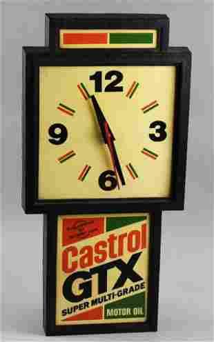 Vintage Castrol GTX Motor Oil Advertising Wall Clock